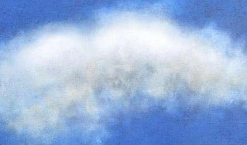 Himmel und Wolken malen in Acryl